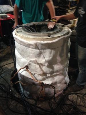 gerador sendo aquecido