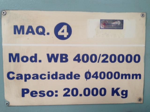 balanceadora utilizada WB 400/2000 calibrada semanalmente