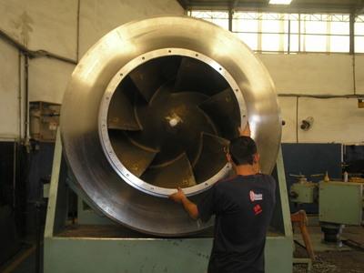 balanceamento rotor de bomba