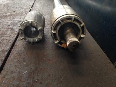 substituição do eixo do induzido da Turbina TR 450