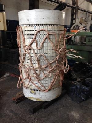 preparação do gerador para o aquecimento por indução