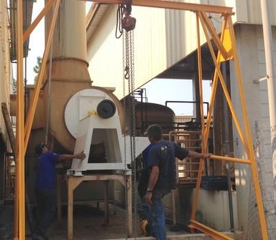 lavador de gases montado