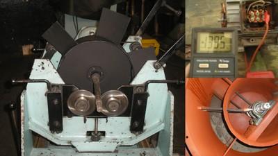 balanceamento dinâmico e teste no motor elétrico