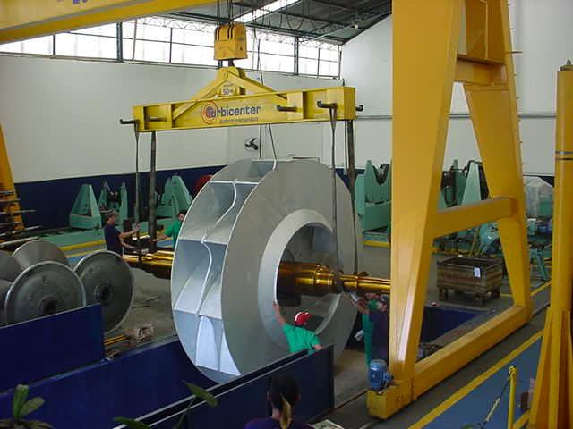 balanceamento de exaustor de 20 toneladas