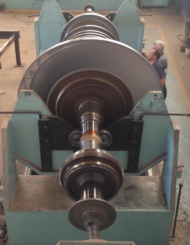 balanceamento turbina vapor 8 ton