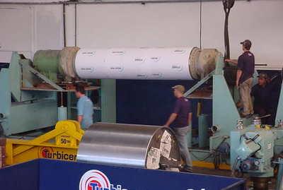 balanceamento de cilindro de fábrica de papel